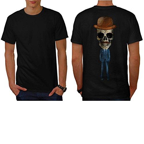 [Fancy Skeleton Person Skull Suit Men NEW L T-shirt Back | Wellcoda] (Skeleton Costume Pose)