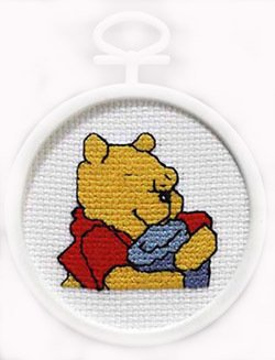Janlynn Pooh's Hunny Mini Cntd X-Stitch Kit (Stitch Cntd Kit Cross)