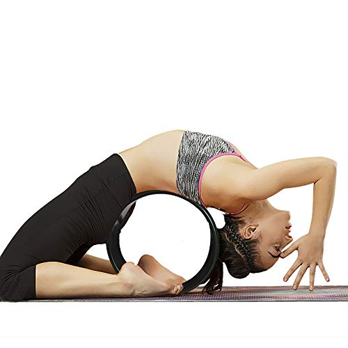 Amazon.com : Flashing Print Dharma Wheel Yoga Wheel Fitness ...