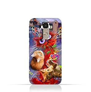 LG G4 Stylus TPU Protective Silicone Case with Adorable Cute Cats Design