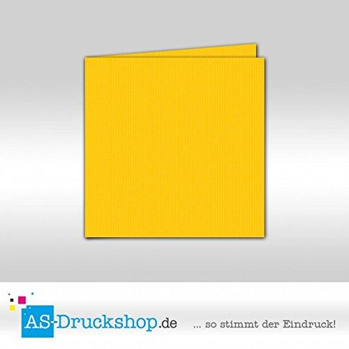 Faltkarte Doppelkarte - Soleilgelb 50 Stück Quadratisch 157 x 157 mm B079519Y8V | Förderung