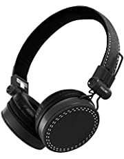 PROLiNK PHC1003E-Black Stereo Headset with Microphone Foldable Headband