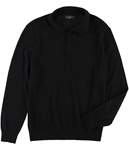 Club Room Mens Knit Polo Sweater Black M by Club Room
