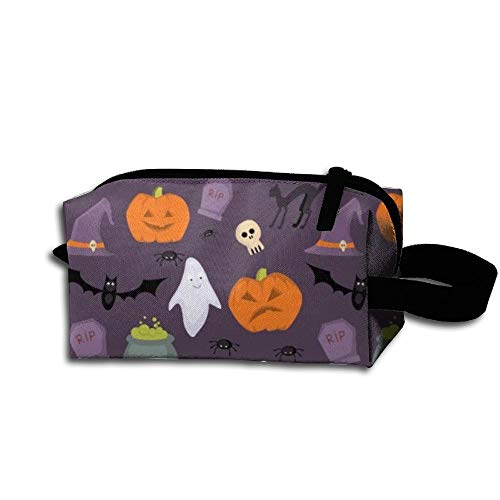 King Fong Pumpkin Lantern Makeup Bags for Men/Women, Travel Toiletry Bag, Oxford Pencil Case with Unique Big -