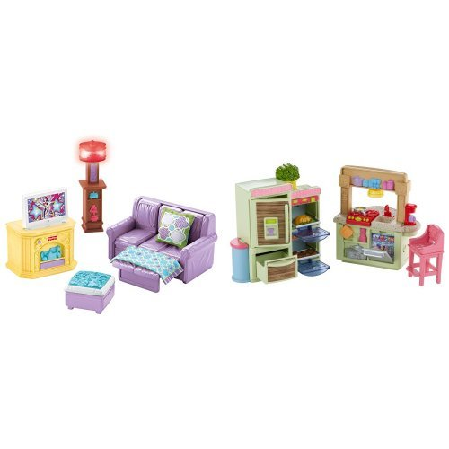 Fisher-Price Loving Family Room and Kitchen Bundle