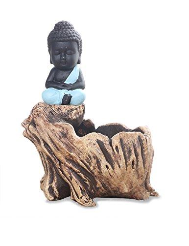 Dahlia Buddha Handmade Concrete Driftwood Succulent Planter/ Plant Pot/ Flower Pot/ Bonsai Pot, 2