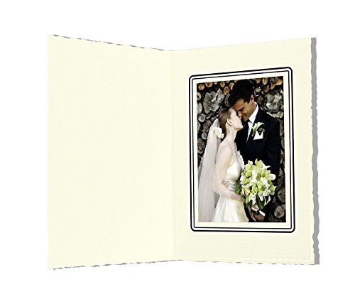 Golden State Art, Pack of 50, 3.5x5-inch Ivory Color Cardboard Photo Folder GS006 by Golden State Art
