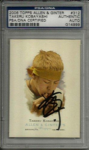 2006 Topps Allen & Ginter Takeru Kobayashi Signed Card Slabbed - PSA/DNA Certified