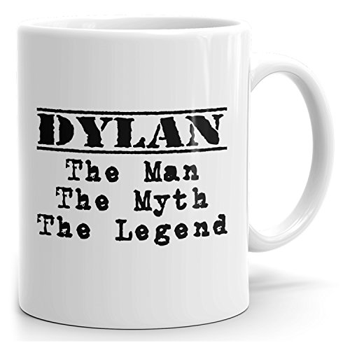 Dylan tea mug - The Man The Myth The Legend - at Home or in the Office - 15oz White Mug