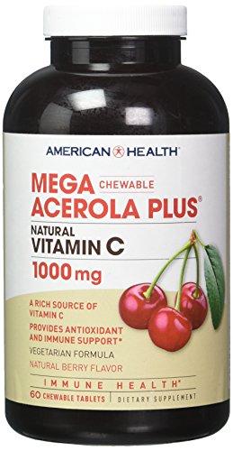American Health MEGA ACEROLA 1000MG, 60 WAF