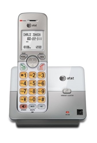 AT&T EL51103 DECT 6.0 Phone with Caller ID/Call Waiting, 1 Cordless Handset, Silver (Wall Mounted Landline Phones With Caller Id)