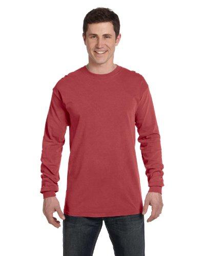 Comfort Colors Ringspun Garment-Dyed Long-Sleeve T-Shirt, Medium, CRIMSON from Comfort Colors