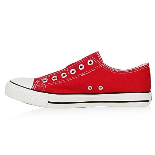 Herren Sneakers Slip-ons Coole Sportschuhe Freizeit Schuhe Flandell Rot