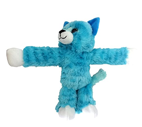 - Wild Republic Huggers Blue Tabby Cat Plush, Slap Bracelet, Stuffed Animal, Kids Toys, 8 inches