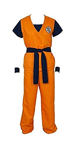 Smile Style Dragon Ball Z Son Goku Turtle Senru Cosplay Costume Outfits (Goku Costume Adult)