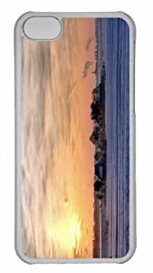 Customized iphone 5C PC Transparent Case - Farm In Winter Personalized Cover