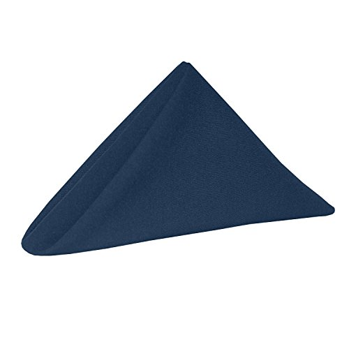 Ultimate Textile -5 Dozen- Cotton-Feel 20 x 20-Inch Cloth Dinner Napkins, Navy Blue by Ultimate Textile (Image #1)