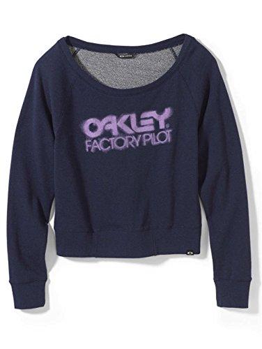 Oakley Womens The Original O Sweater Sweatshirt, Peacoat, Small