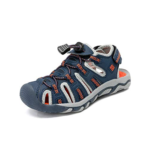 DREAM PAIRS Toddler 160912-K Navy Light Grey Orange Outdoor Summer Sandals Size 8 M US Toddler]()