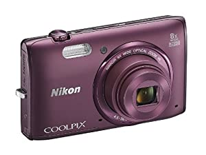 Nikon COOLPIX S5300 16 MP Wi-Fi CMOS Digital Camera with 8x Zoom NIKKOR Lens and 1080p HD Video (Plum) (Discontinued by Manufacturer) from Nikon