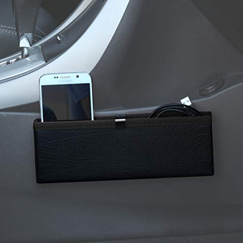 KMMOTORS Ultra Slim Side Pocket Black,Car Seat Side Organize