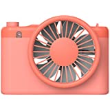 HongKang Rechargeable mini fan led lighting female travel mobile power