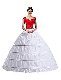 YULUOSHA Women Crinoline Hoop Petticoats Skirt Slips Floor Length Underskirt for Ball Gown Wedding Dress