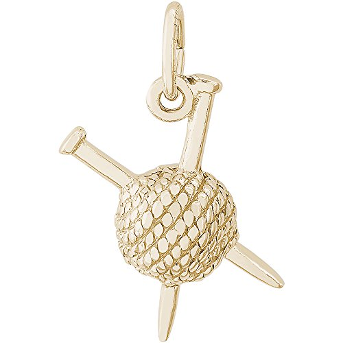 Rembrandt Charms 14K Yellow Gold 3-D Knitting Charm (7.5 x 20 mm) by Rembrandt Charms (Image #1)