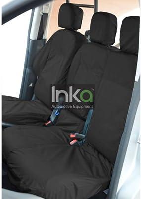 Black TAILORED Citroen Berlingo Seat Cover-FRONT DOUBLE PASSENGER 2008