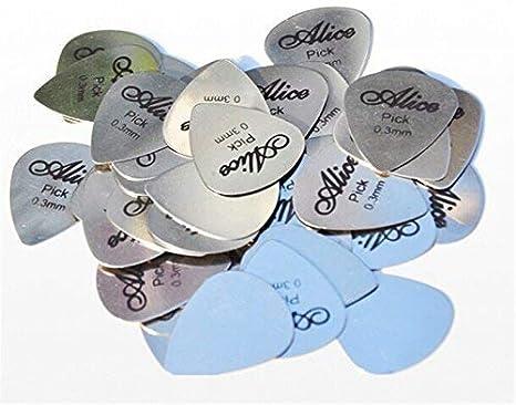 6x Plectro Púas Guitarra De Metal Cromado 0.30mm: Amazon.es: Instrumentos musicales