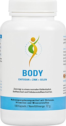 Vihado Body, Chitosan, Vitamin C, Zink, Selen, 100 Kapseln, 1er Pack (1 x 72 g)