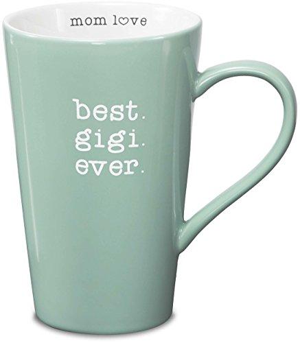 Pavilion Gift Company Mom Love Best Gigi Ever Latte Coffee Mug, Seafoam Green