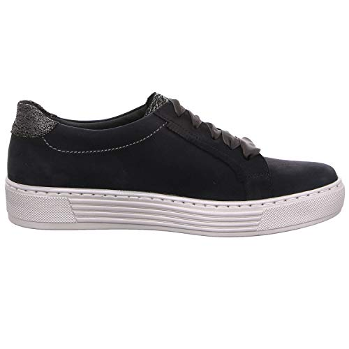 de Bleu Femme pour Chaussures à Ville Solidus Lacets qfx1p57pw
