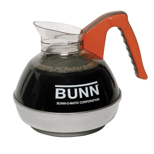 - Wholesale CASE of 5 - Bunn-O-Matic Unbreakable 12-Cup Decanter-12-Cup Unbreakable Decanter, Decaf, Orange Handle