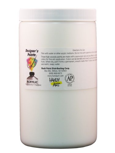 Handy Art Designer's Palette  Artist Acrylic 32 ounce, Gel Medium Acrylic Paint Mediums