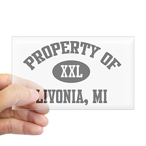 (CafePress Property of Livonia Rectangle Sticker Rectangle Bumper Sticker Car Decal)