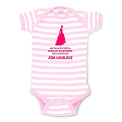 "Cute Kids wear Stripes! Nothing says ""that baby has the cutest outfit"" like our high quality 4.5 oz. 100% cotton .This design is printed directly onto the onepiece with eco-friendly inks that infant safe, stretchy to allow free range movement..."