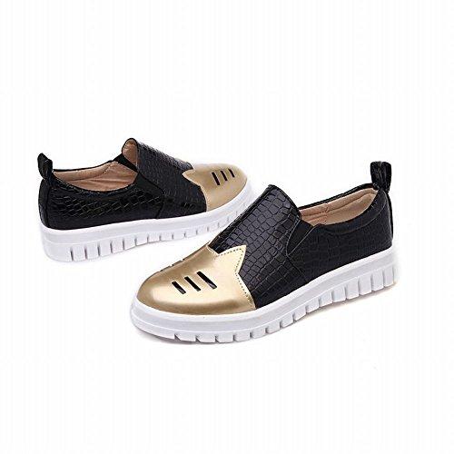 Mostrar Shine Moda Para Mujer Colores Surtidos Bungee Flats Zapatos Gold