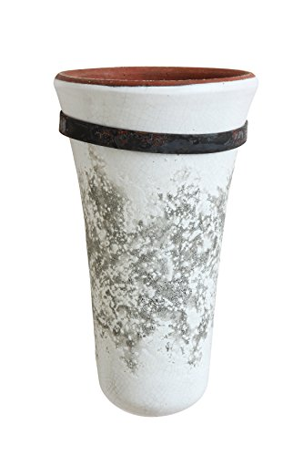 Creative Co-Op Terracotta Wall Vase with Bracket - Vase Wall Fountain