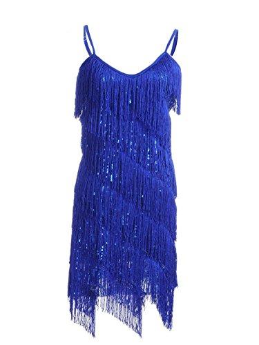 Vijiv Womens Sequins Flapper Costume