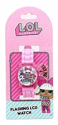 MGA 47157, LOL Surprise Flashing LCD Watch - Pink Sports Band, Multicolor from MGA Entertainment