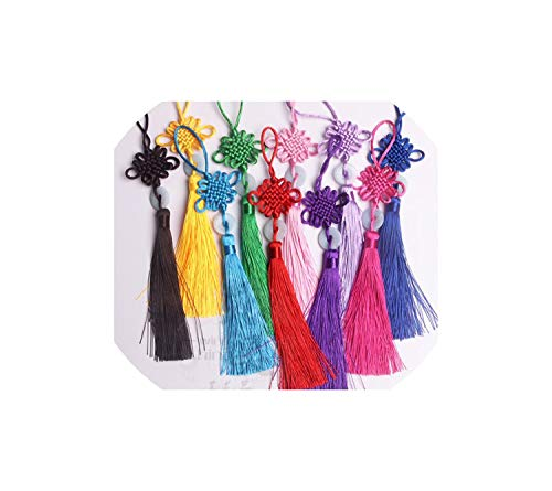- Cherryran Tassels 1Pcs Knot Fringe Arts and Crafts Plastic Jade Decoration Pendant Gift Present Home Decor,Sapphire Blue