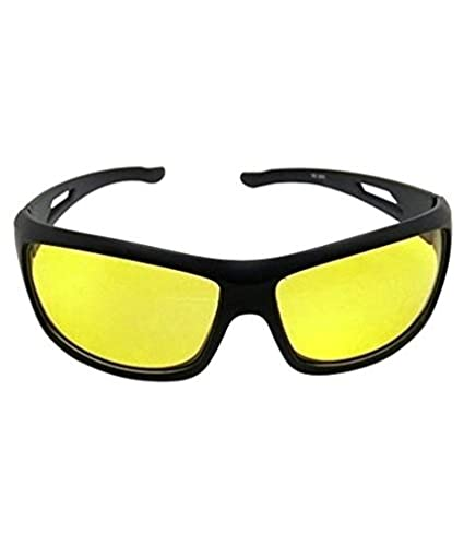 d62e69e761 Dervin Nightdrive Driving Easy Day and Night HD Vision Anti-Glare Polarized  Black Women s Sunglasses (Yellow)  Amazon.in  Clothing   Accessories