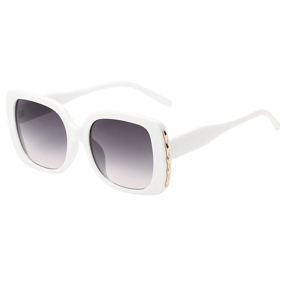 Stoota Women Man Vintage Big Frame Square Shape Sunglasses,Eyewear Retro Unisex