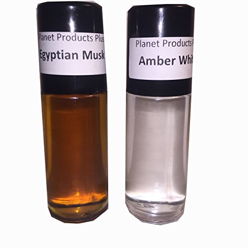 1oz Amber White, 1oz Egyptian Musk, 2 Combo Oils Roll on Body Oil Perfume Fragrance By NPS