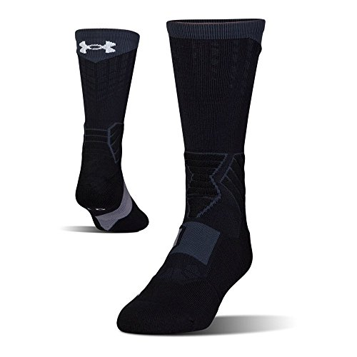 Under Armour Mens Under Armour Drive basketball Crew Single Pair, black/White, Large
