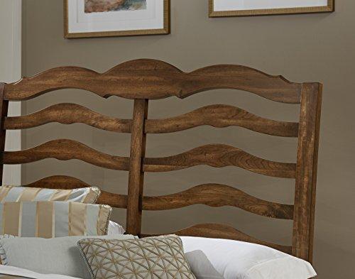 Hamptons Sleigh - Virginia House 150-558 Hampton Bench Back Bed, Queen, English Cherry