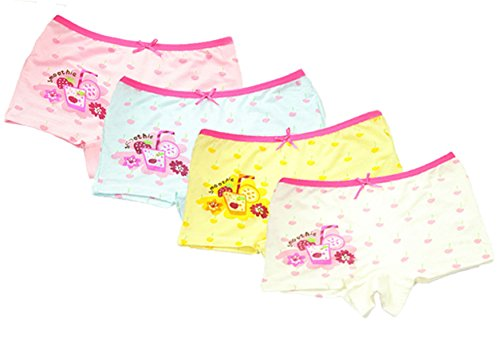 Toddler Kids Cherry Cake Boyshort Hipster Panties Underwear 5Pcs 8-10 Years ()