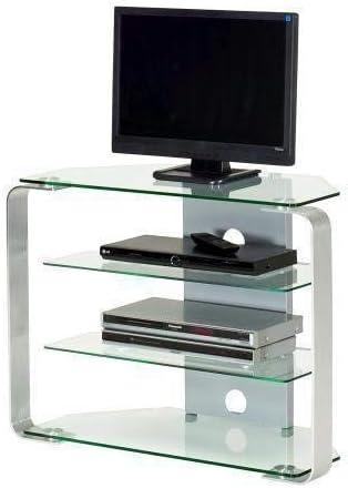 Jahnke CU de Mr 100 LED KGL/al 1500 mm TV Rack, Vidrio Templado, Metal, Klarglas/Aluminio Pulido, 85 x 40 x 65 cm: Amazon.es: Juguetes y juegos