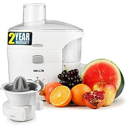 iBELL 300-W JU1400SG Juicer / Juice Maker, Includes Juicer Jar, Citrus Juice Extractor Copper Motor and Detachable Pulp…